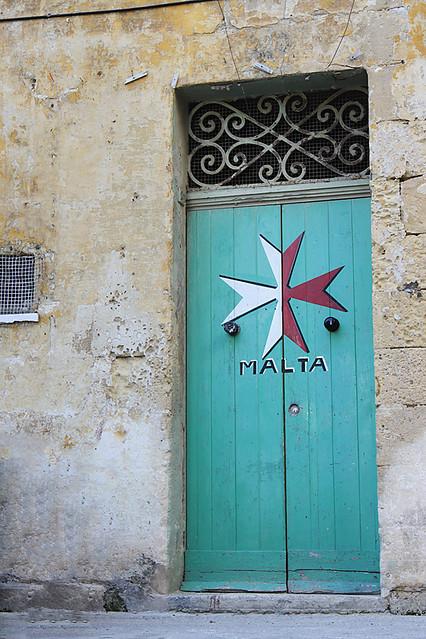 turquoise door in Malta