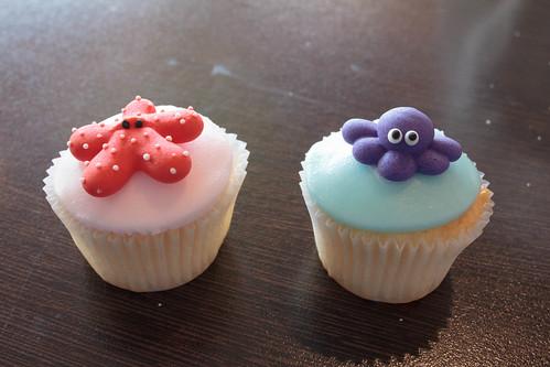 Cute Aquarium Cupcakes!
