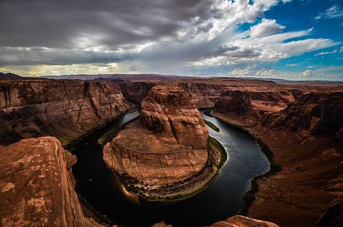 [フリー画像素材] 自然風景, 渓谷, 河川・湖, 岩山, 風景 - アメリカ合衆国, ホースシューベンド ID:201211261600