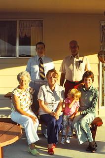Colorado   -   2667 E 99th Ave. Thornton   -   Aunt Mimi, my mother, Jessica, Pat Lloyd, John Lloyd, Uncle Harold   -   May 1976