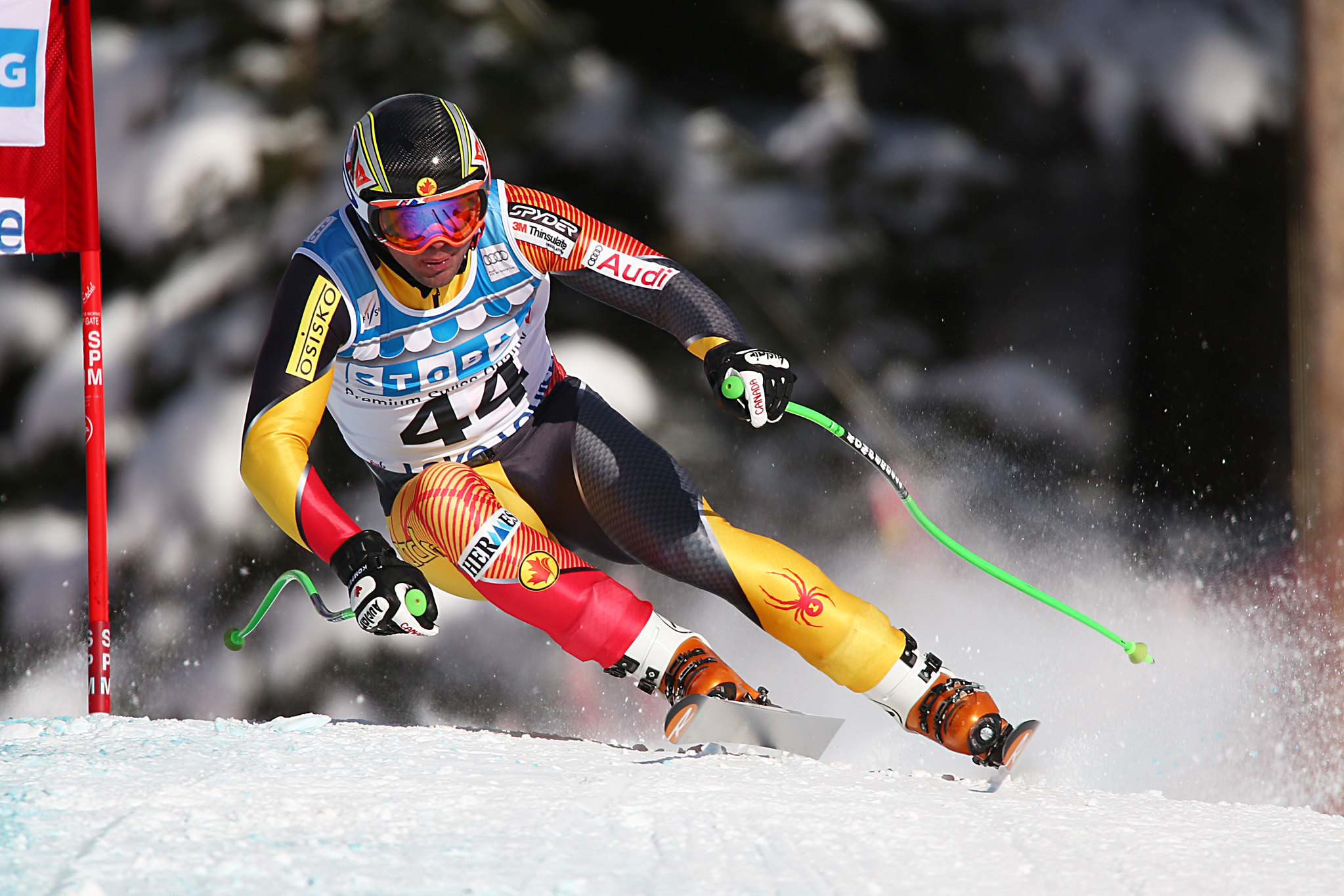 Manuel Osborne-Paradis during the second downhill training run in Lake Louise (Nov. 2012)