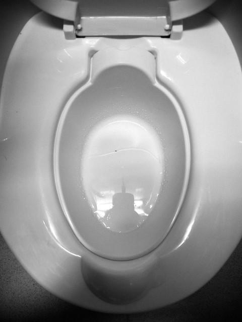 第一次尿進小馬桶