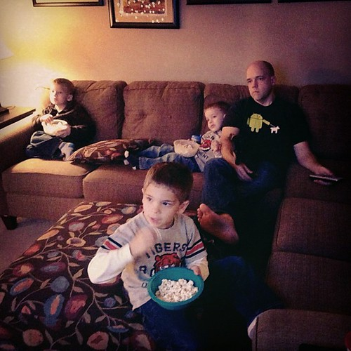Popcorn for dinner and a Star Wars marathon.  Post Thanksgiving recovery.