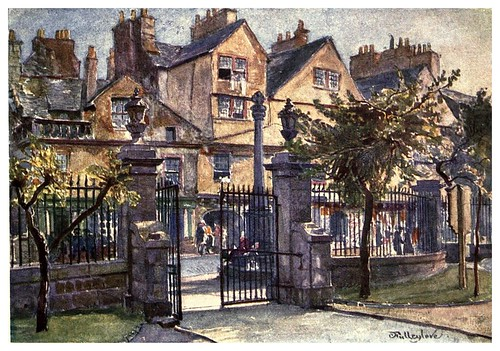 007-Casas antiguas en Cannongate-Edinburgh, painted by John Fulleylove- 1904