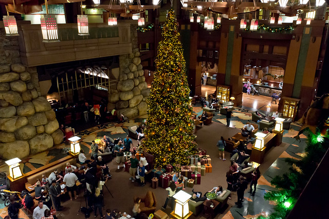 Grand Californian Hotel Christmas Tree