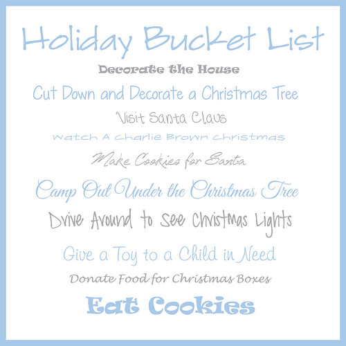 Holiday Bucket List 2012