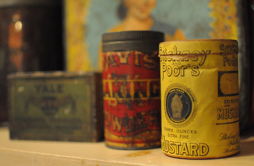 antique containers and tins