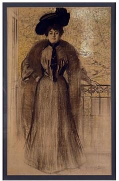 Retrato de señora, Ramon Casas
