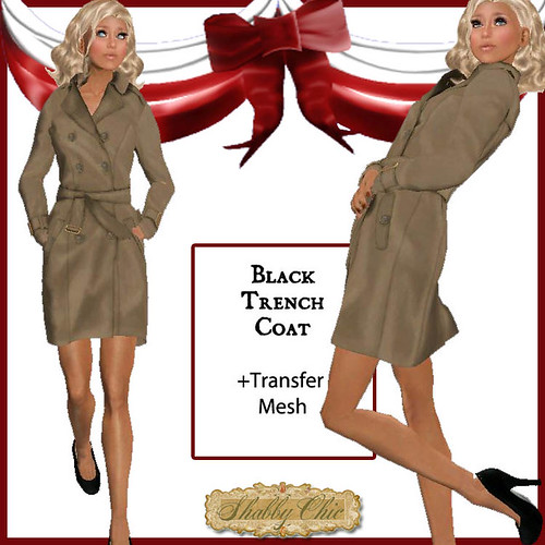 Shabby Chic tan Trench Coat by Shabby Chics