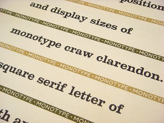 Monotype Craw Clarendon type specimen broadsheet