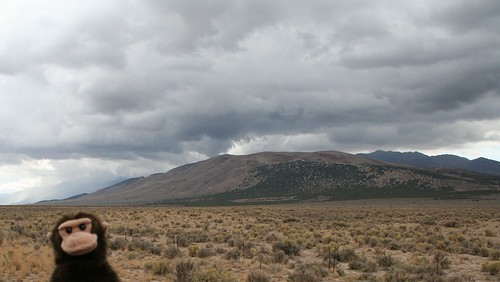 clouds grey highway tour desert nevada great basin sage motorcycle 93 grumpy