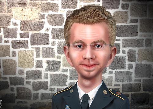 Bradley Manning - Caricature