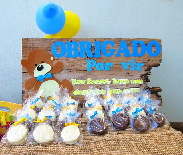 Lembrancinha de aniversário infantil alfajor argentino