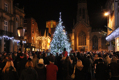 York Christmas Tree Carol Singing 2 December 2012