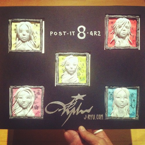 The Five Poisoned Girls - Arsenic, Curare, Strychnine, Hemlock & Nightshade.  Post-It's for Post-it 8 show on Dec 8 @giantrobot @giantrobotstore in Los Angeles.  $25/each, signed. Hope those of you who can make it have fun.  #art #sculpture #ghost #ghostg
