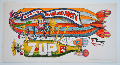 "7Up_Un Un and Away_vintage 21""x11"" UnCola poster by Ed George, 1970"
