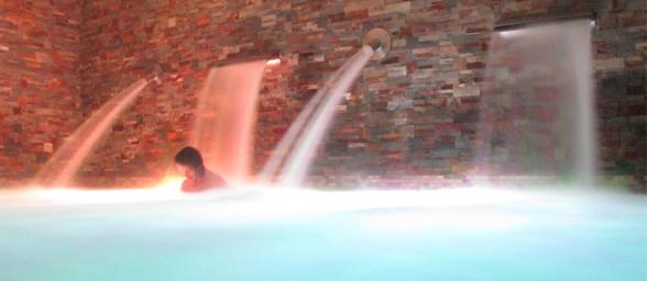 SPA-balneario del hotel rural Kinédomus Bienestar, en Fresnedillo de las Dueñas (Burgos)