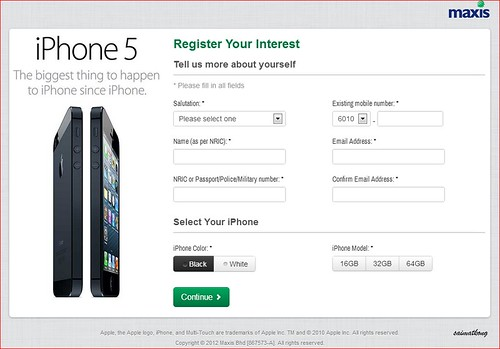 Maxis - The Brand New iPhone 5 Coming Soon‏! Registration of Interest for iPhone 5 with Maxis