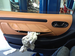 Airbag in a Maserati door