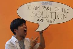 張良伊參與青年響應活動,照片提供:台灣青年氣候聯盟