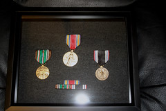Medals presented were the European-African-Middle Eastern Campaign Medal with one Bronze Service Star, the World War II Victory Medal, the Prisoner of War Medal, and WWII Honorable Service Lapel Button