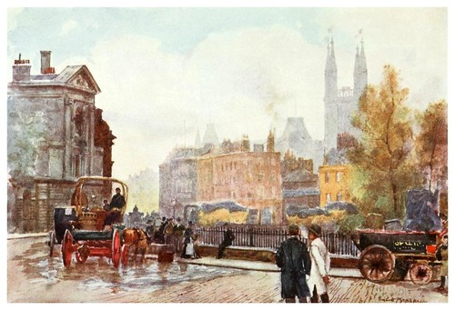030-Plaza de San Bartolome- The scenery of London- 1905-Herbert Marshall