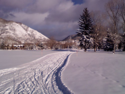 Cross-Country Skiing Trail at Aspen Municipal Golf Course