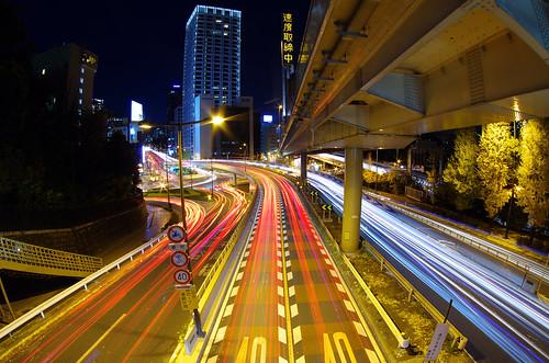 landscape nightscape pentax lighttrails nightview akasaka k5 akasakamitsuke pentaxk5