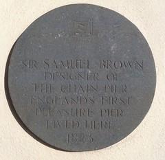 Photo of Samuel Brown grey plaque