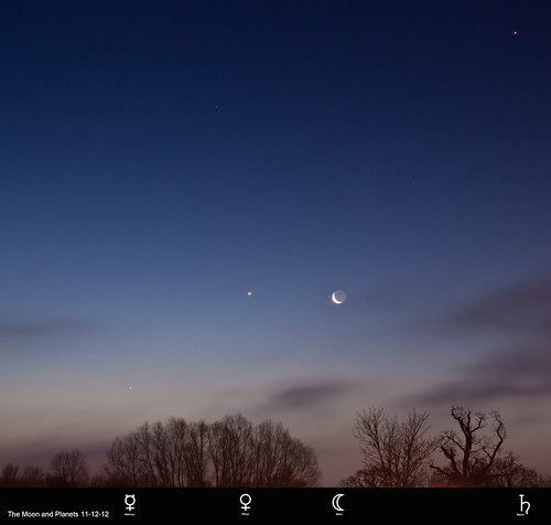 The Moon and Planets - 111212 by Mick Hyde