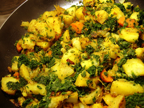 sag aloo recipe on Pudding-Girl