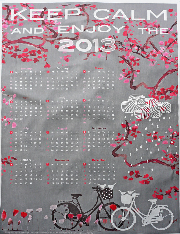 Calendar - tea towel 2013