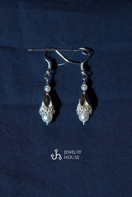 "Earrings ""Ice Pearl"""