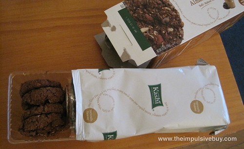 Kashi Chocolate Almond Butter Soft-Baked Cookies Look at that Kashi packaging