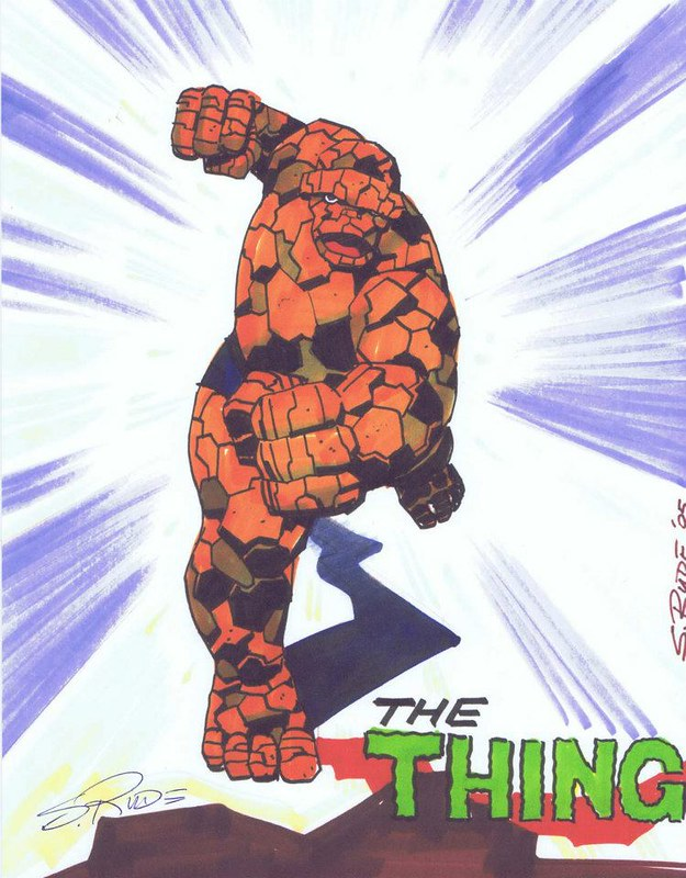 The Thing coming atcha by Steve Rude