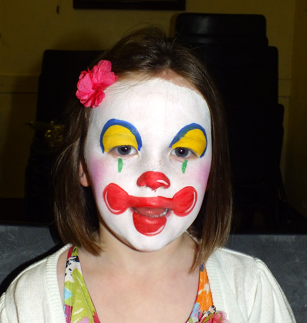 clown girl face painting flickr photo sharing. Black Bedroom Furniture Sets. Home Design Ideas