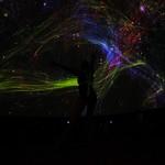 Dancers performing in the planetarium dome