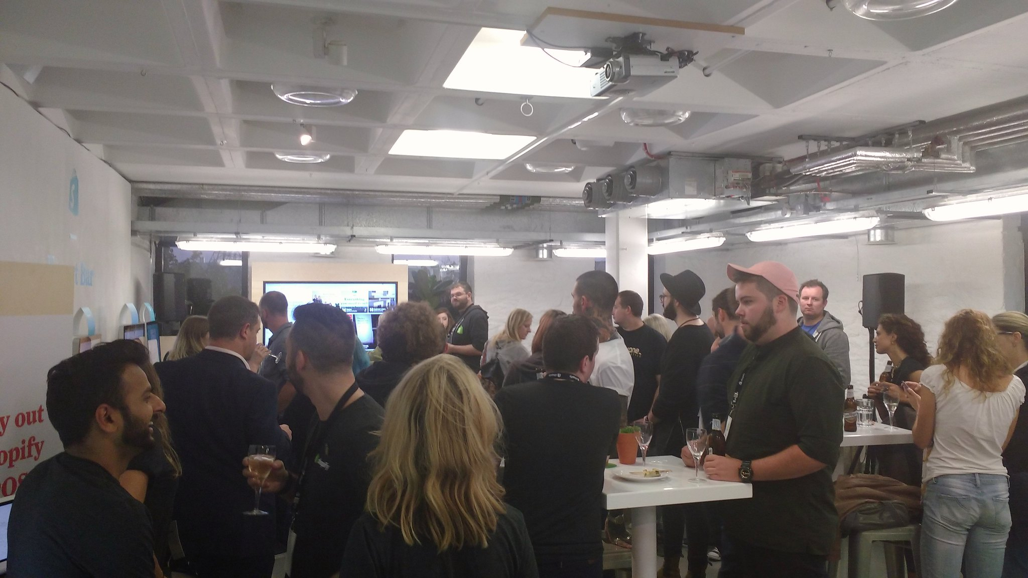 Busy crowd at Shopify Tour in Bristol