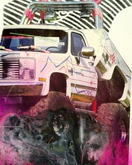 #monstertruck #trucks #pink #4x4 #collage #collageart #doodle
