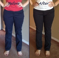 Pants Refit Before & After