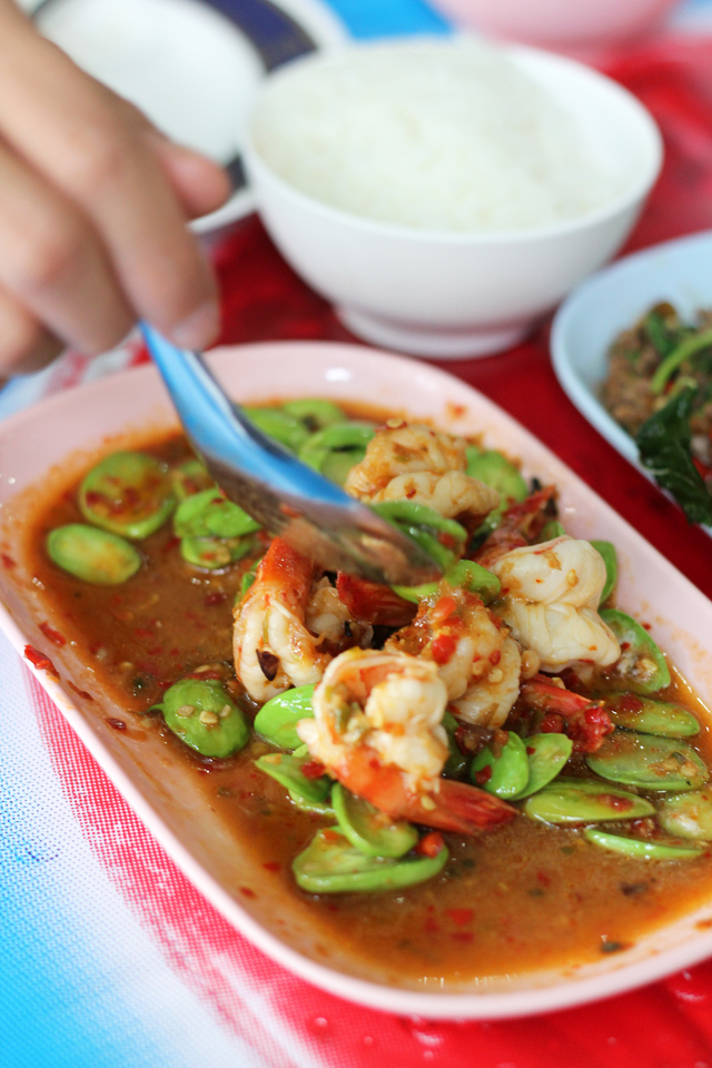 Stink bean stir fried with shrimp and fermented shrimp paste