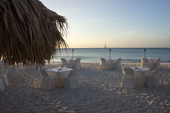 Sunset Dinner on Eagle Beach at Passions on the Beach in Aruba