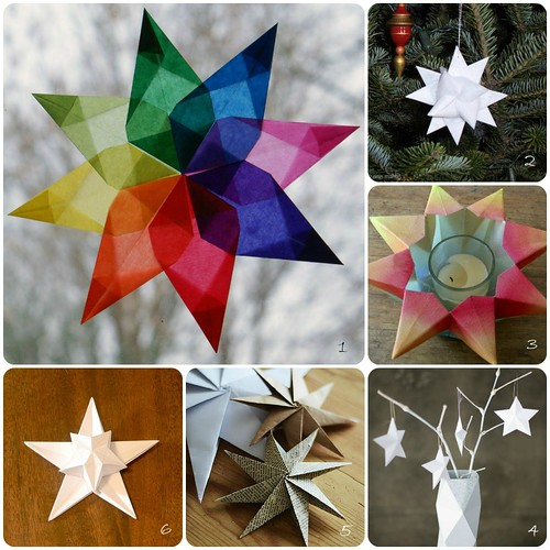 Folded Paper Star Tutorials