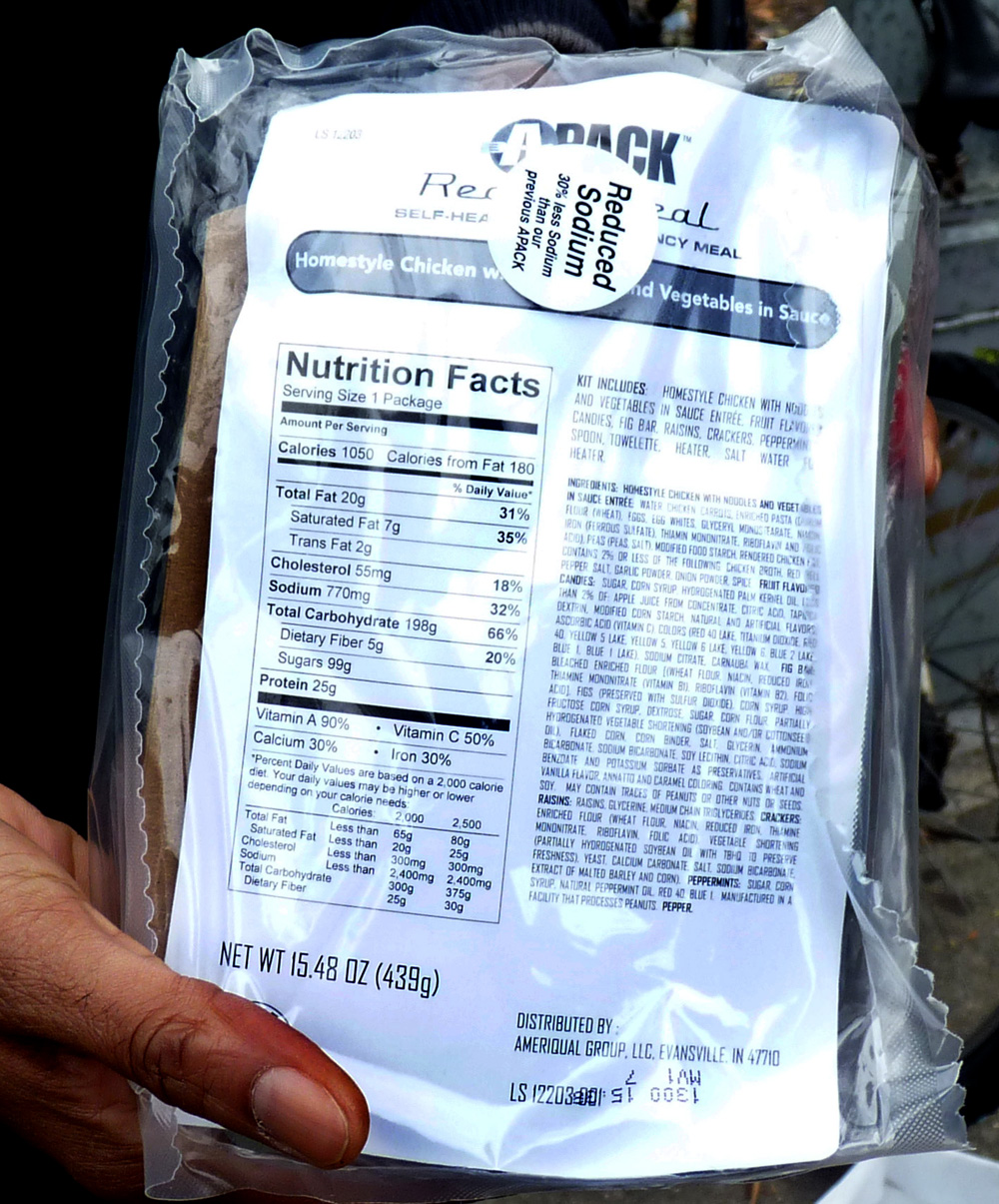MRE Ingredients