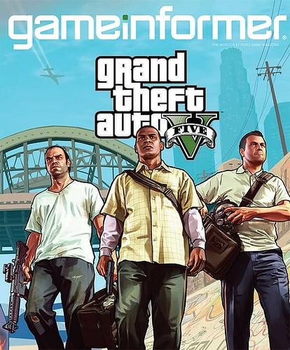 GRAND THEFT AUTO V GAME INFORMER MAGAZINE COVER . gta v on the cover of game informer  magazine