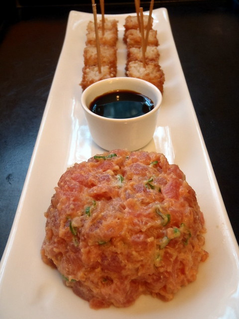 tuna tartare cornets spicy sesame tuna tartar spicy tuna on crispy ...