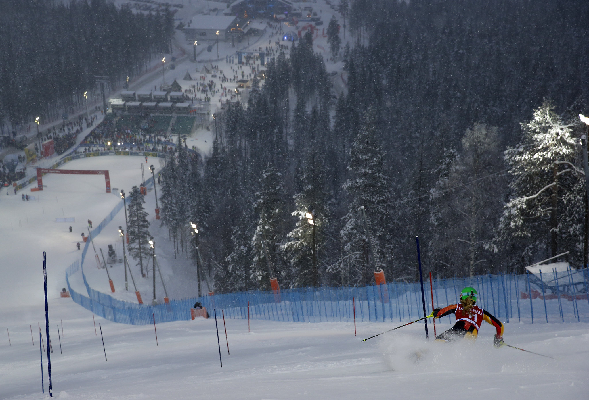 Erin Mielzynski during the Levi, Finland, World Cup slalom.