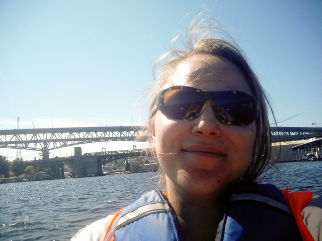 Me, on a boat