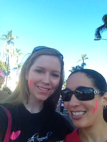 Christina and Chea at the Susan G. Komen Race for the Cure at Balboa Park in San Diego