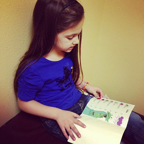 Reading at the doctor's office!